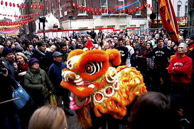 Lion Dance China Town London