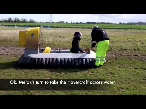 A Hovercraft Experience – riding a 1 person hovercraft