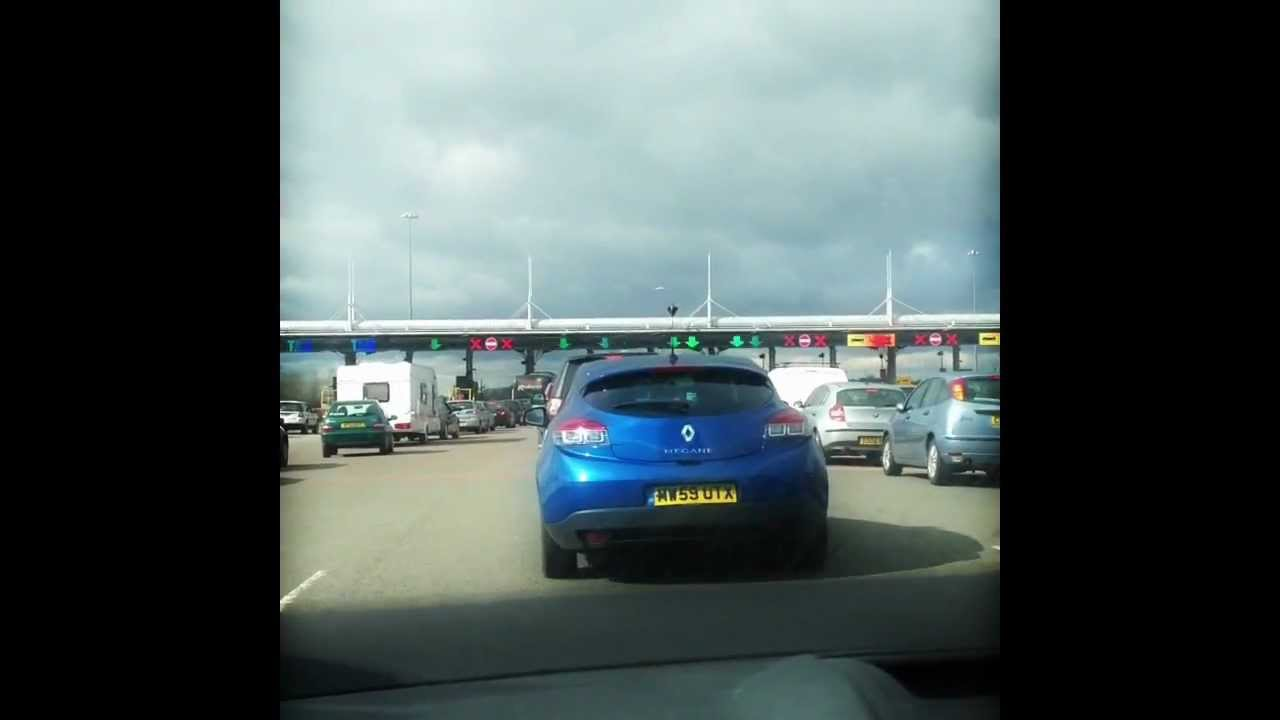 Approaching the Severn Bridge Tollbooth