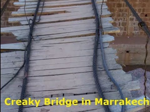 Creaky Bridge near Atlas Mountains in Marrakech