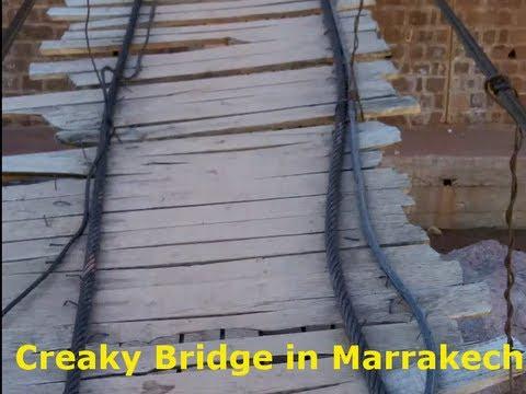 Creaky Bridge near Atlas Mountains in Marrakech