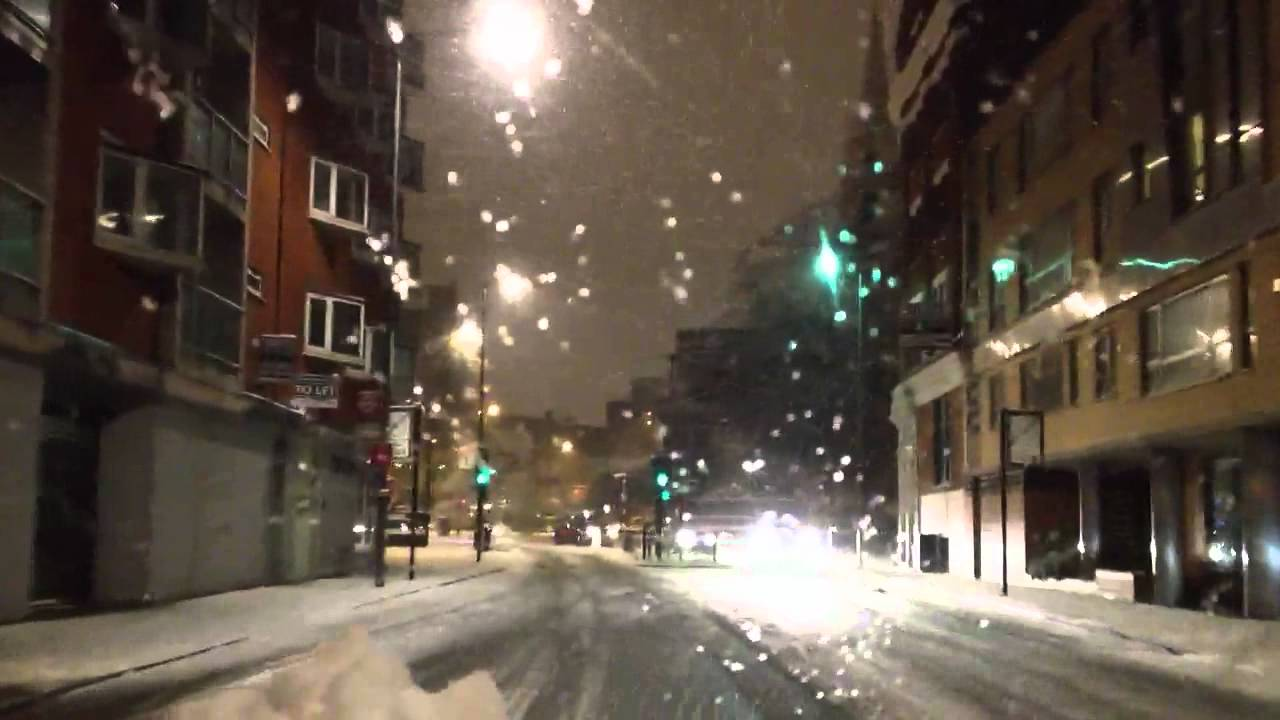 Driving in the Snow, London