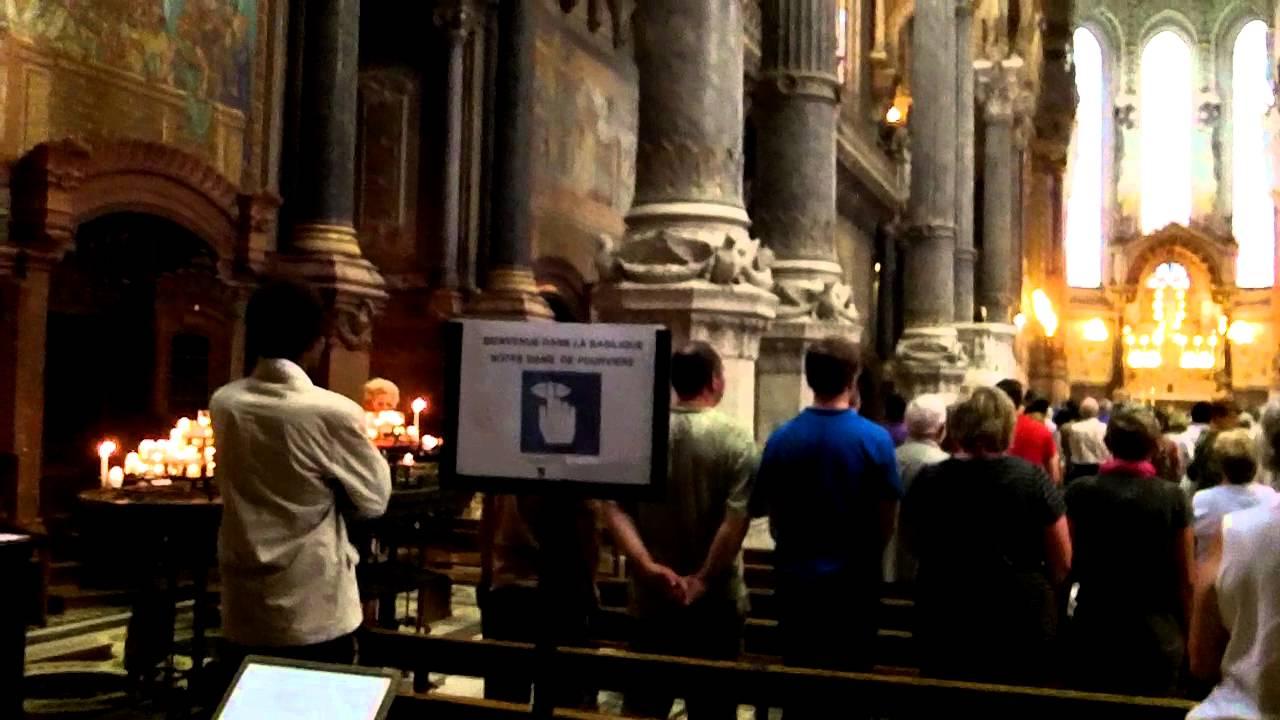 Inside the Notre-Dame de Fourviere in Lyon