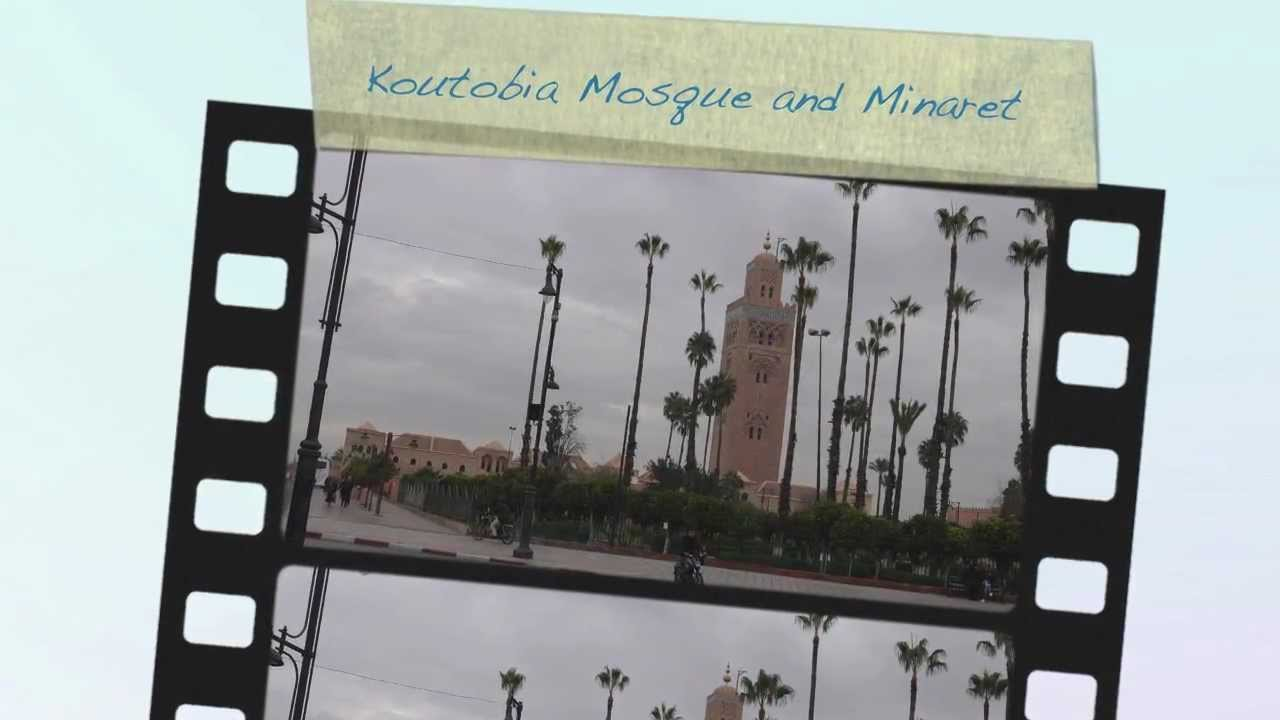 Koutobia Mosque and Minaret in Marrakech, Morocco