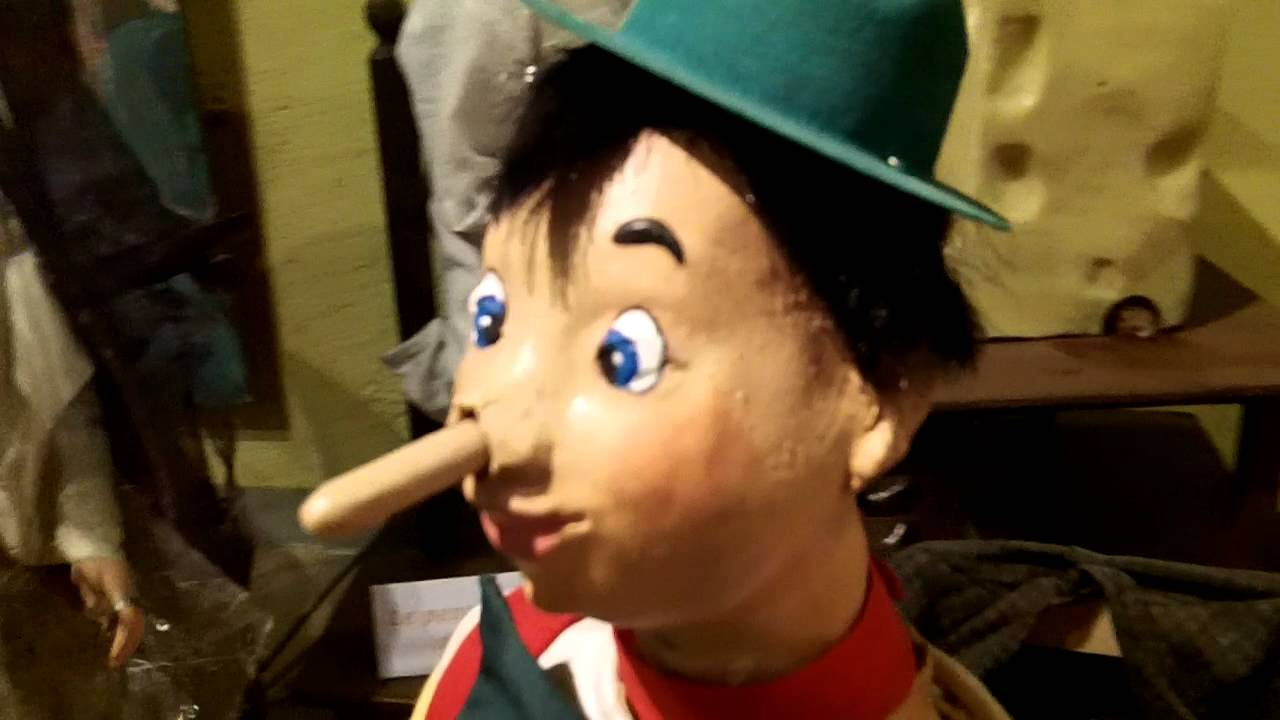 Pinocchio puppet in Museum of Animated Puppets in Lyon