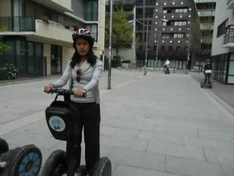 Showing off on a Segway in Paris