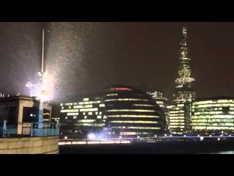 Snow by City Hall and The Shard