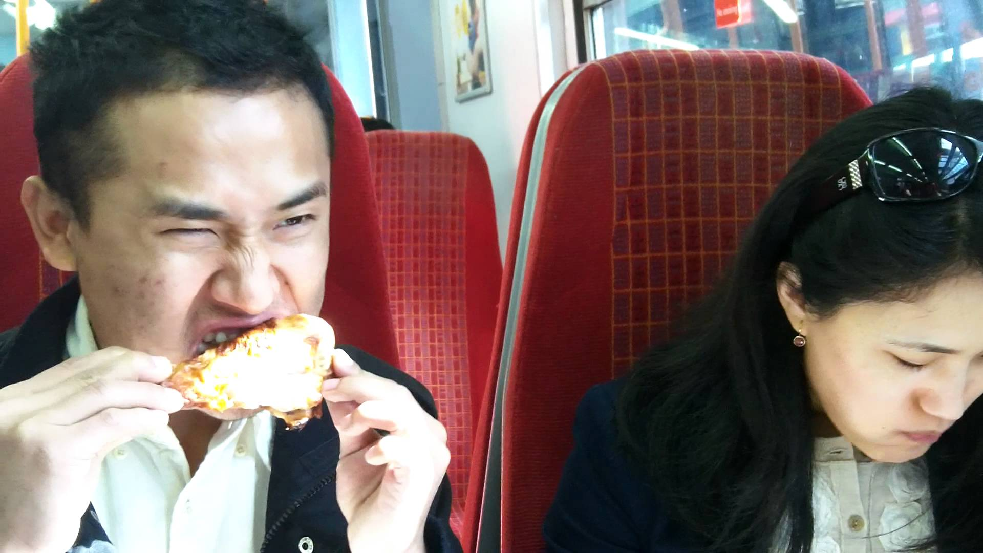 Some Hungry Tibetans on the Train to Hampton Court Palace