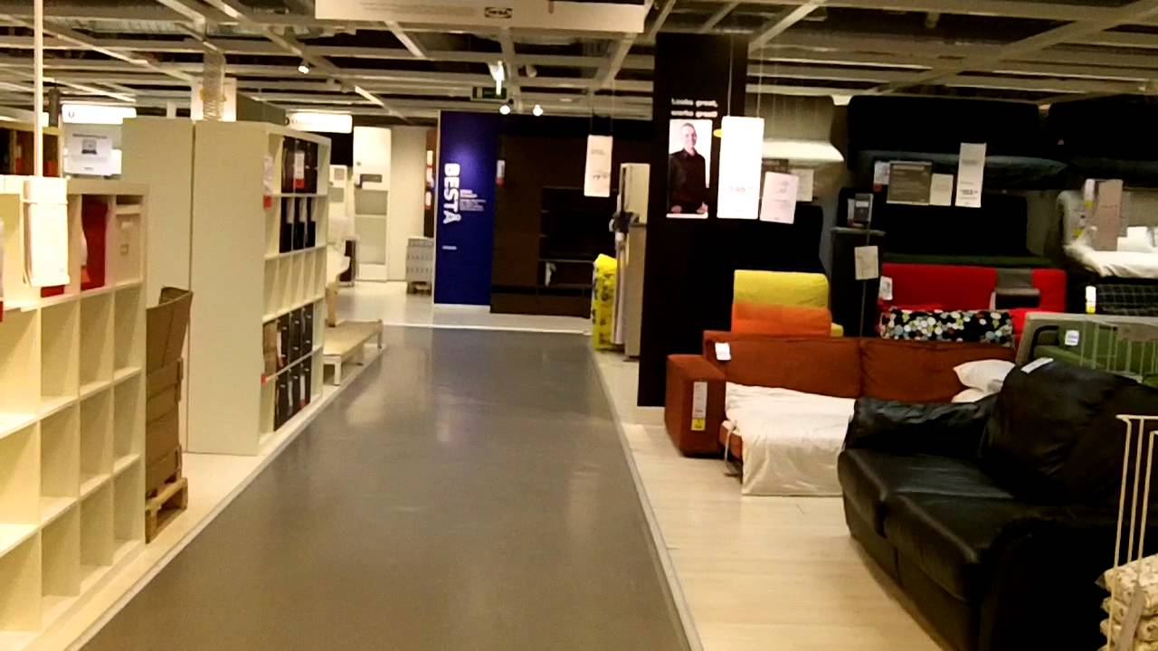 Walking through Ikea near closing time