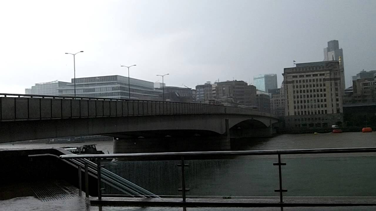 Wind and Rain at London Bridge