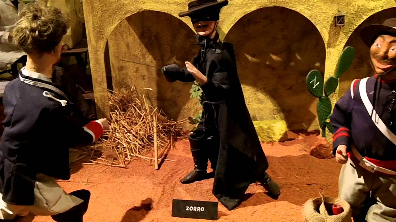 Zorro scene in Museum of Animated Puppets in Lyon